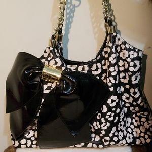 Betsey Johnson large bow bag